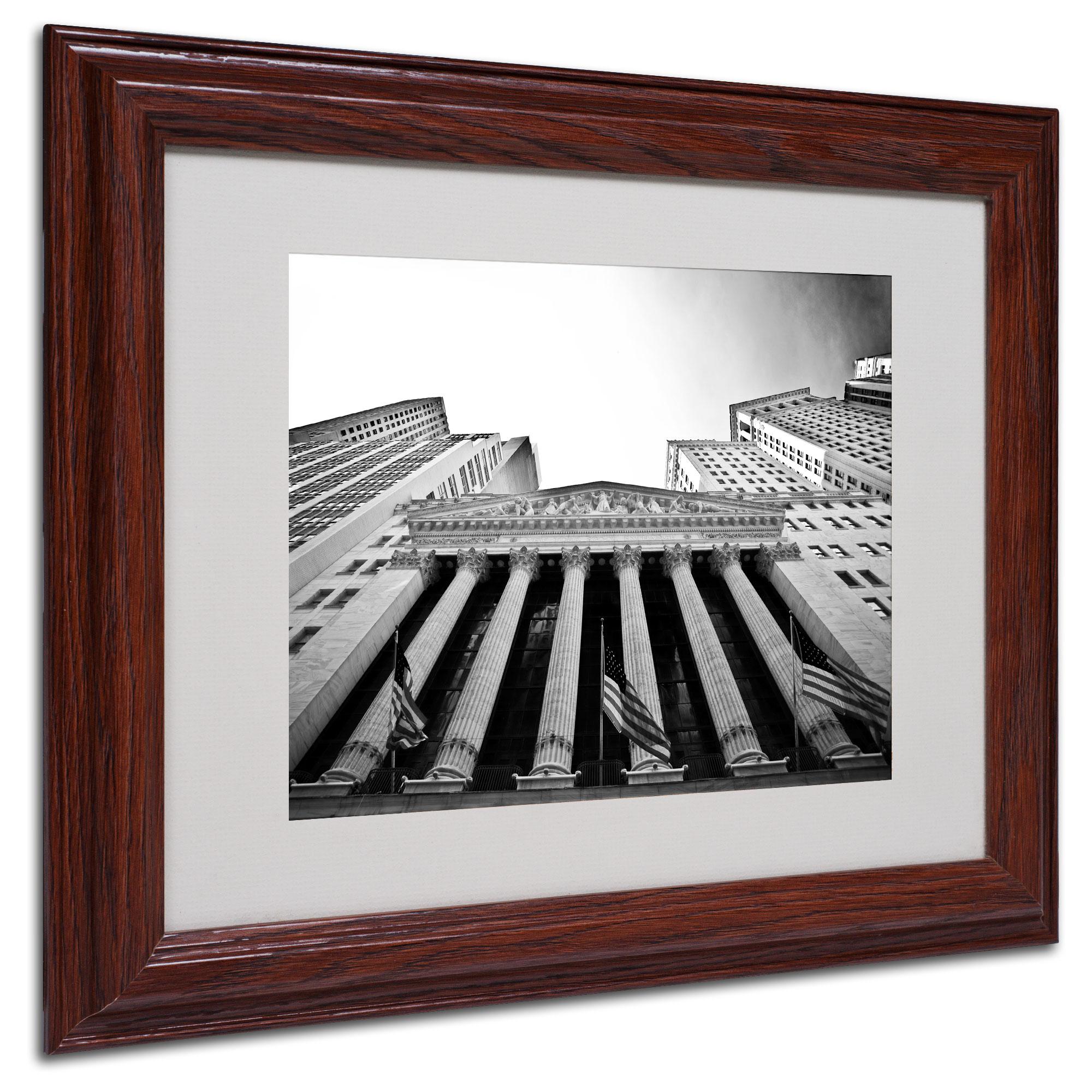 Trademark Fine Art Yale Gurney 'The New York Stock Exchange' Matted Framed Art PartNumber: 024VA70911012P MfgPartNumber: YG0003-W1114MF