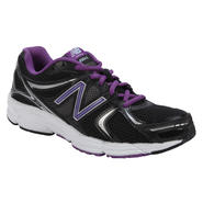 New Balance Women's 490v2 Black/Purple/White Road Running Shoes at Sears.com