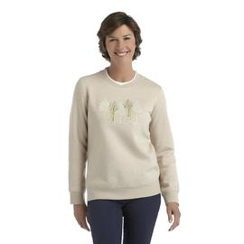 Laura Scott Women's Fleece Holiday Sweatshirt - Snow Scene at Sears.com