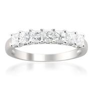 14K White Gold 1ct Princess-cut Diamond Wedding Band (H-I, I1-I2) at Sears.com