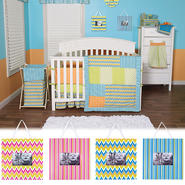 Levi - 3 Piece Crib Bedding Set & Picture Frame Bundle at Sears.com
