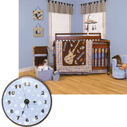 Rockstar - 4 Pc Crib Set & Wall Clock Stacker Bundle at Sears.com