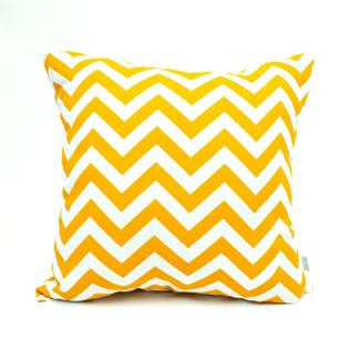 Majestic Home Goods Yellow Zig Zag Large Pillow