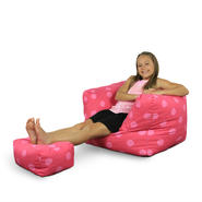 American Furniture Alliance Junior Arm Chair/Ottoman - Oxygen Pink at Kmart.com