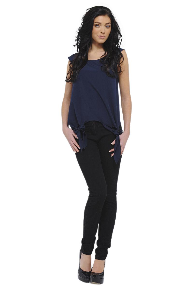 Women's Side Tie Sleeveless Top - Online Exclusive