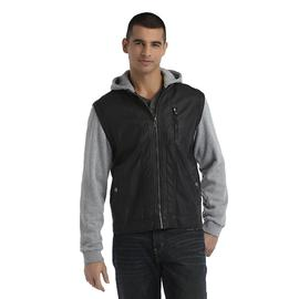 Route 66 Men's Leather Jacket - Layered Look at Kmart.com