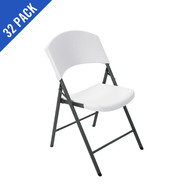 Lifetime Light Commercial Folding Chair 32 Pack (White ) at Sears.com