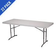 Lifetime 6 ft. Commercial Adjustable Height Folding Tables 22 Pack (Almond) at Kmart.com