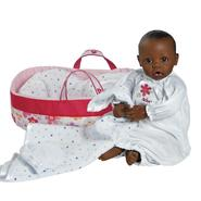 Adora Dolls Baby Doll, 16 inch NurseryTime - Dark Skin/Brown Eyes at Sears.com