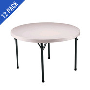 Lifetime 46 in. Commercial Round Plastic Folding Table 12 Pack (Almond) at Kmart.com