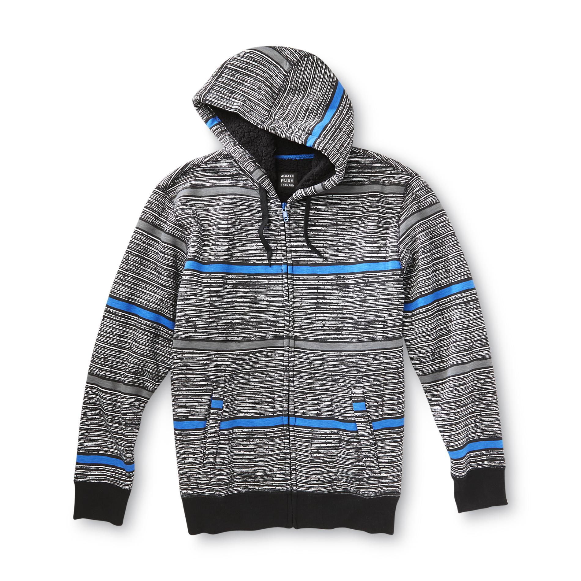 Always Push Forward Men's Hoodie Jacket - Striped at Kmart.com