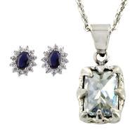 Women's Silvertone Necklace & Earrings Bundle IV at Sears.com