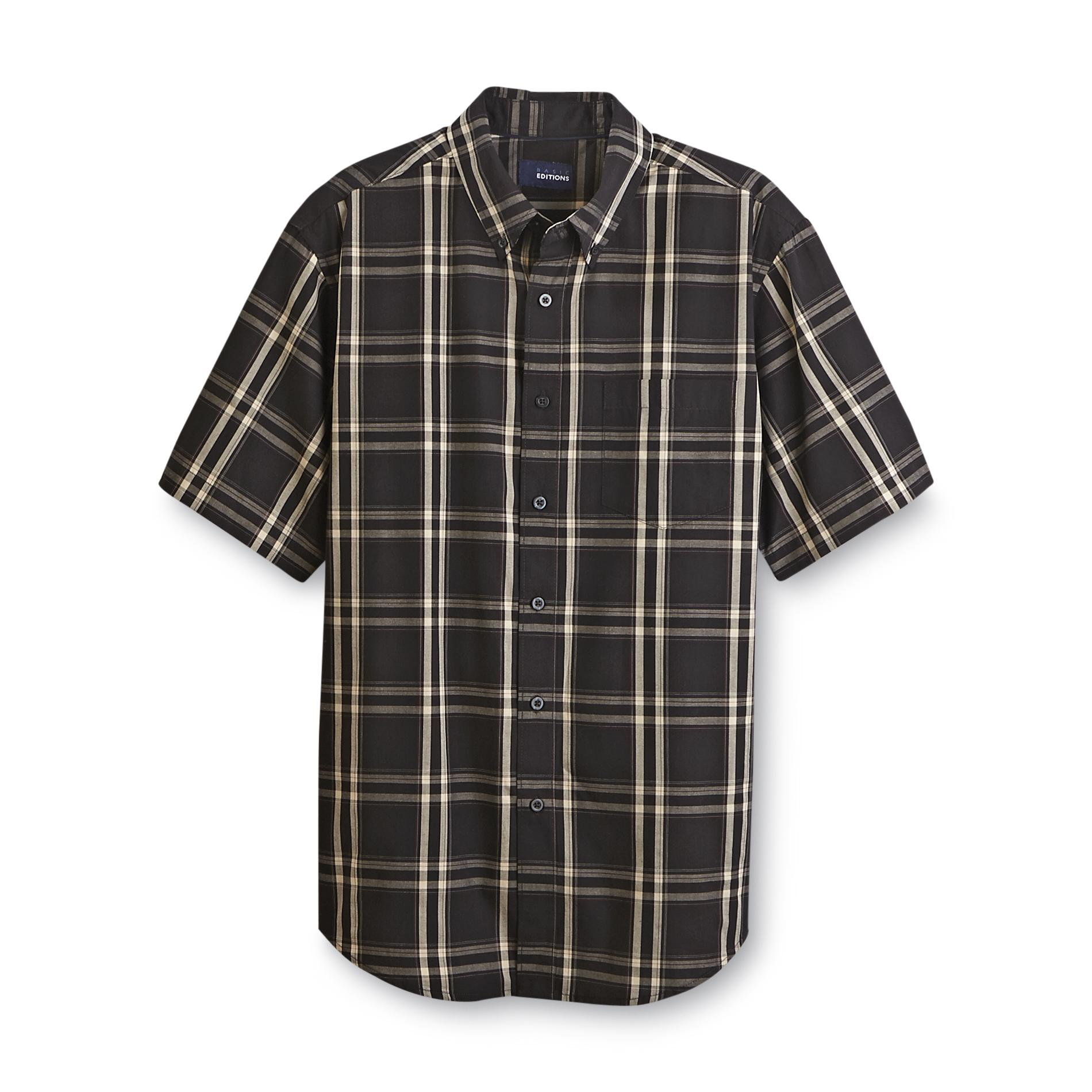 Basic Editions Men's Short-Sleeve Easy Care Shirt - Plaid at Kmart.com