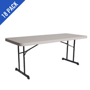 Lifetime 6 ft. Professional Grade Folding Table 18 Pack (Putty) at Kmart.com