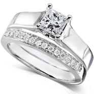 Diamond-Me Diamond Wedding Set 5/8 Carat (ct.tw) in 14K White Gold at Sears.com