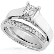 Diamond-Me Diamond Wedding Set 3/4 Carat (ct.tw) in 14 White Gold at Sears.com