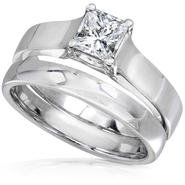Diamond-Me Diamond Wedding Set 3/5 Carat (ct.tw) in 14K White Gold at Sears.com
