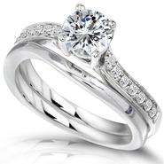 Diamond-Me Diamond Wedding Set 3/4 carat (ct.tw) in 14k White Gold at Sears.com