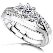 Diamond-Me Diamond Wedding set 1/2 carat (ct.tw) in 14K White Gold at Kmart.com