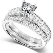 Diamond-Me Diamond Wedding Set 1 1/3 carat (ct.tw) in 14k White Gold at Sears.com