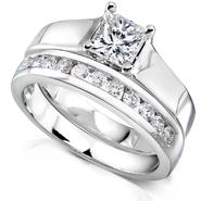 Diamond-Me Princess Cut Diamond Bridal Set 7/8 Carat (ct.tw) in 14k White Gold at Sears.com