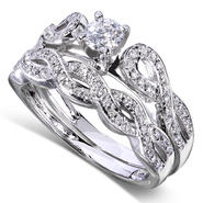 Diamond-Me Round Diamond Braided Bridal Set 1/2 Carat (ct.tw) in 14k White Gold at Kmart.com
