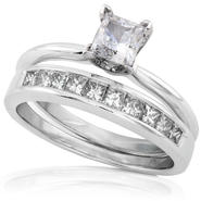 Diamond-Me Princess Diamond Bridal Set 1 Carat (ct.tw) in 14k White Gold at Sears.com