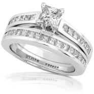 Diamond-Me Diamond Wedding Set 1 1/2 Carat (ct.tw) in 14K White Gold at Sears.com