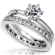 Diamond-Me Diamond Wedding Set 1 carat (ct.tw) in 14k White Gold at Sears.com
