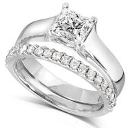 Diamond-Me Diamond Wedding Set 1 1/4 carat (ct.tw) in 14k White Gold at Sears.com