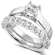 Diamond-Me Diamond Wedding Set 1 1/4 carats (ct.tw) in 14k White Gold at Sears.com