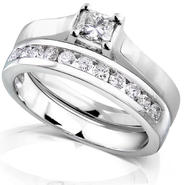 Diamond-Me Princess Cut Diamond Bridal Set 5/8 Carat (ct.tw) in 14K White Gold at Sears.com