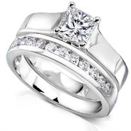 Diamond-Me Princess Cut Diamond Bridal Set 1Carat (ct.tw) in 14k White Gold at Sears.com