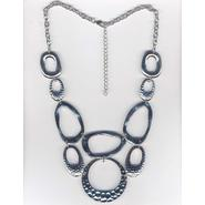 Studio S Women's Hammered Statement Necklace - Silvertone at Sears.com