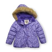 Route 66 Girl's Hooded Puffer Jacket - Hearts at Kmart.com