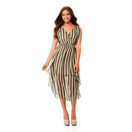 Kardashian Kollection Women's Faux Wrap Dress - Striped at Sears.com