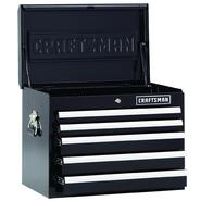 Craftsman 5-Drawer Premium Heavy-Duty Top Chest - Black at Craftsman.com