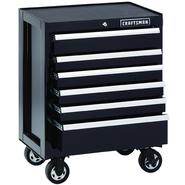 Craftsman 6-Drawer Premium Heavy-Duty Rolling Cabinet - Black at Kmart.com
