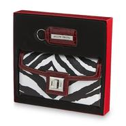 Jaclyn Smith Women's Wallet & Key Fob Set - Zebra Print at Kmart.com