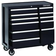 Craftsman 40-Inch 11-Drawer Premium Heavy-Duty Rolling Cart - Black at Sears.com