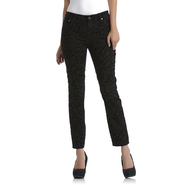 Jaclyn Smith Women's Slim Fit Jeans - Flocked Animal Print at Kmart.com