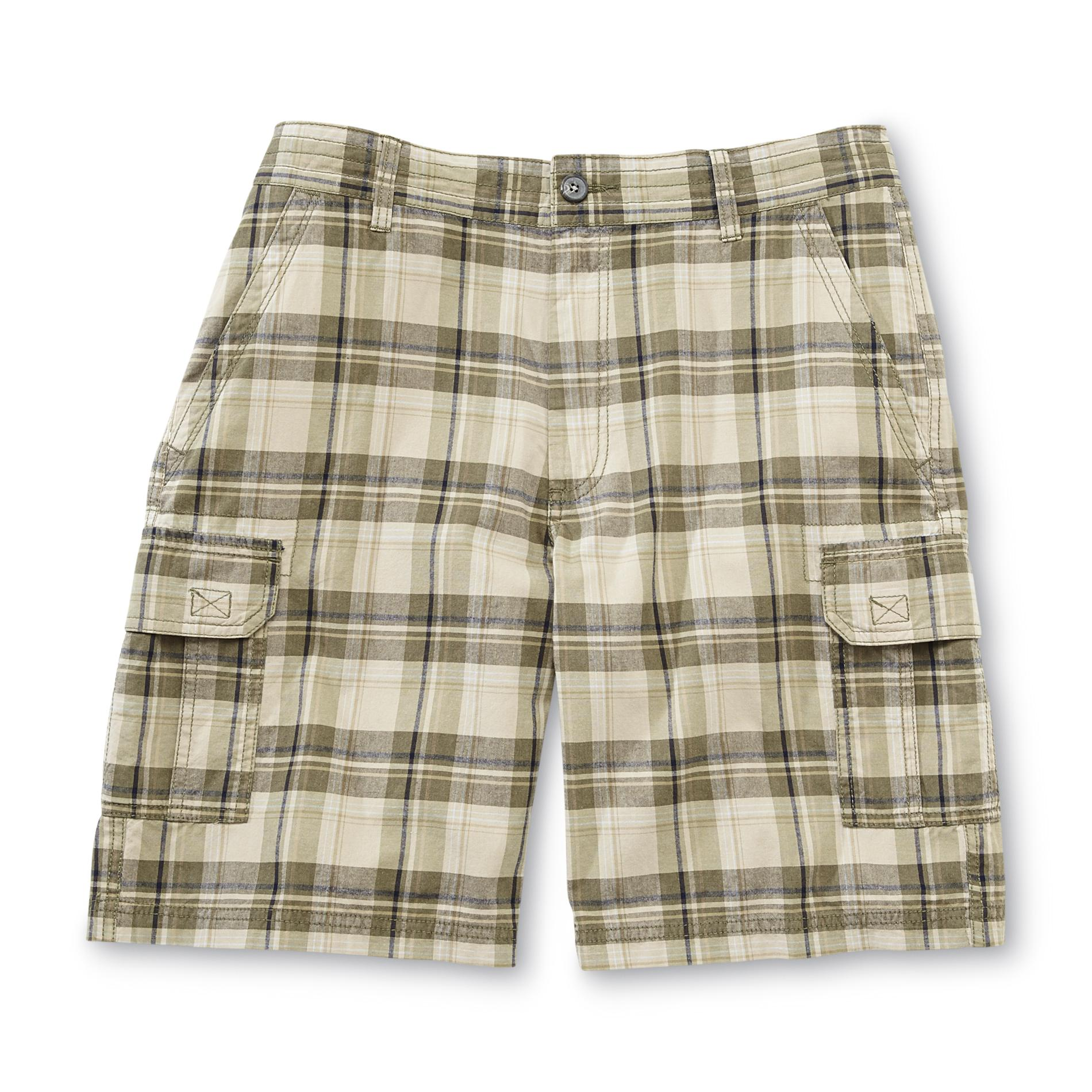 Men's Big & Tall Cargo Shorts - Plaid