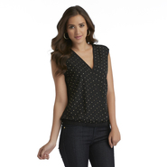 Sofia by Sofia Vergara Women's Surplice Chiffon Top - Studded at Kmart.com