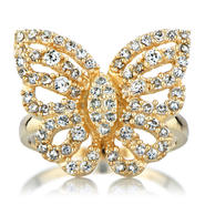Emitations Gold Butterfly Ring - Mariah Carey Inspired Jewelry at Kmart.com