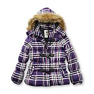 Route 66 Girl's Hooded Puffer Coat - Plaid at Kmart.com