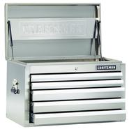 Craftsman 32-Inch 5-Drawer Premium Heavy-Duty Top Chest - Stainless Steel at Craftsman.com
