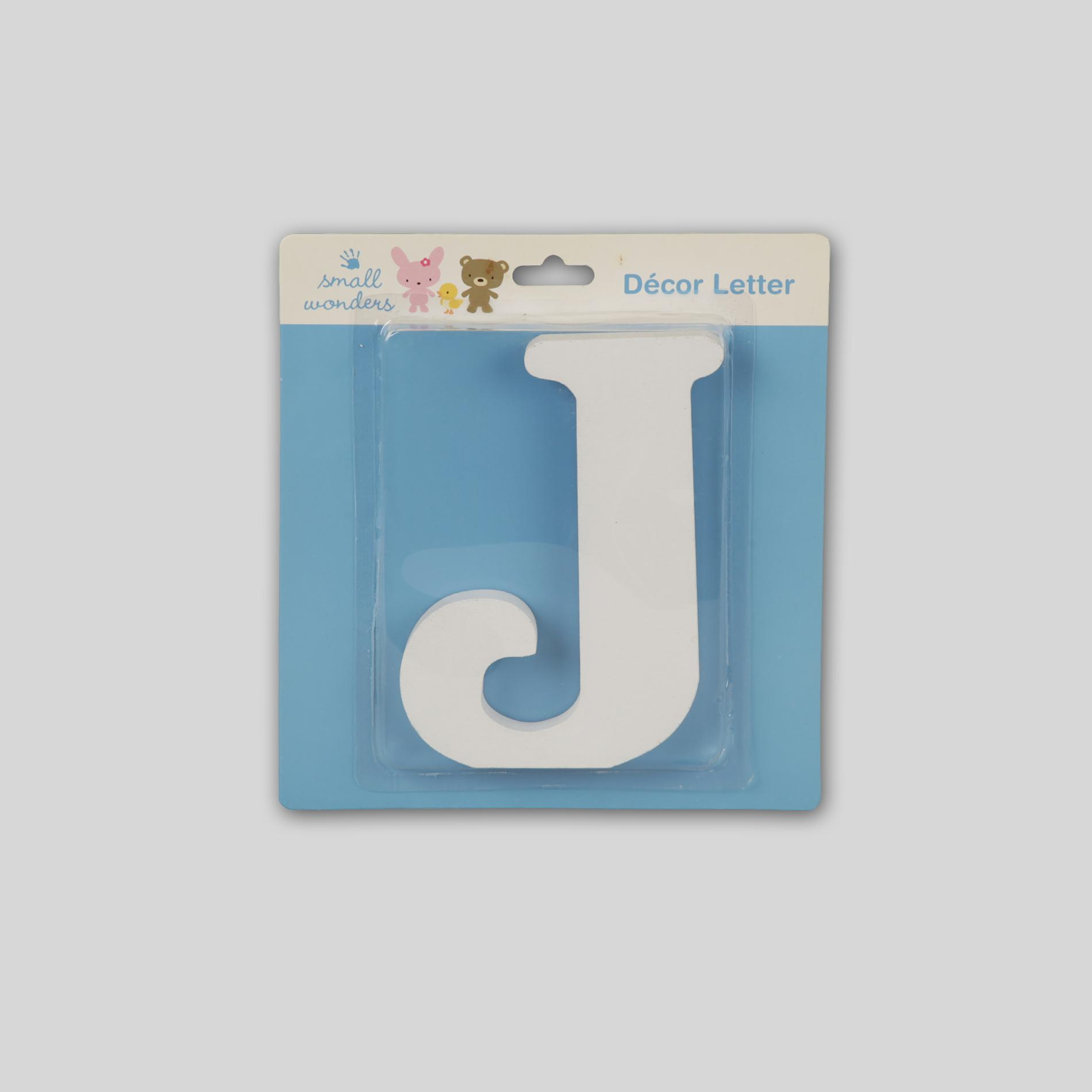 Small Wonders Wooden Letter Wall Decor - Letter J