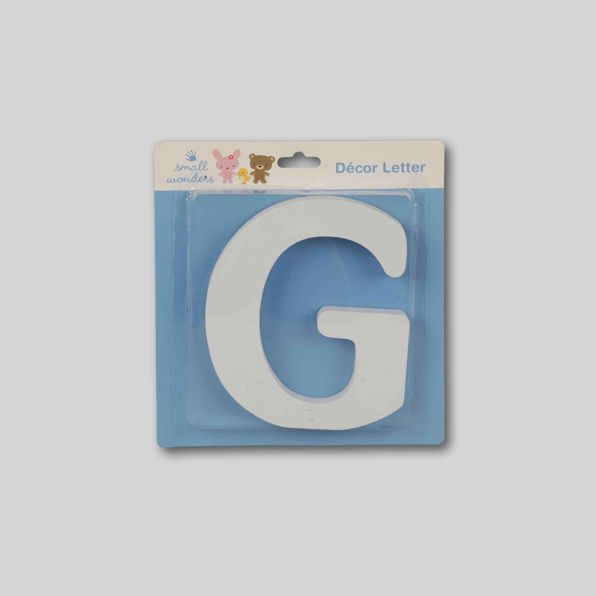 Small Wonders Wooden Letter Wall Decor - Letter G