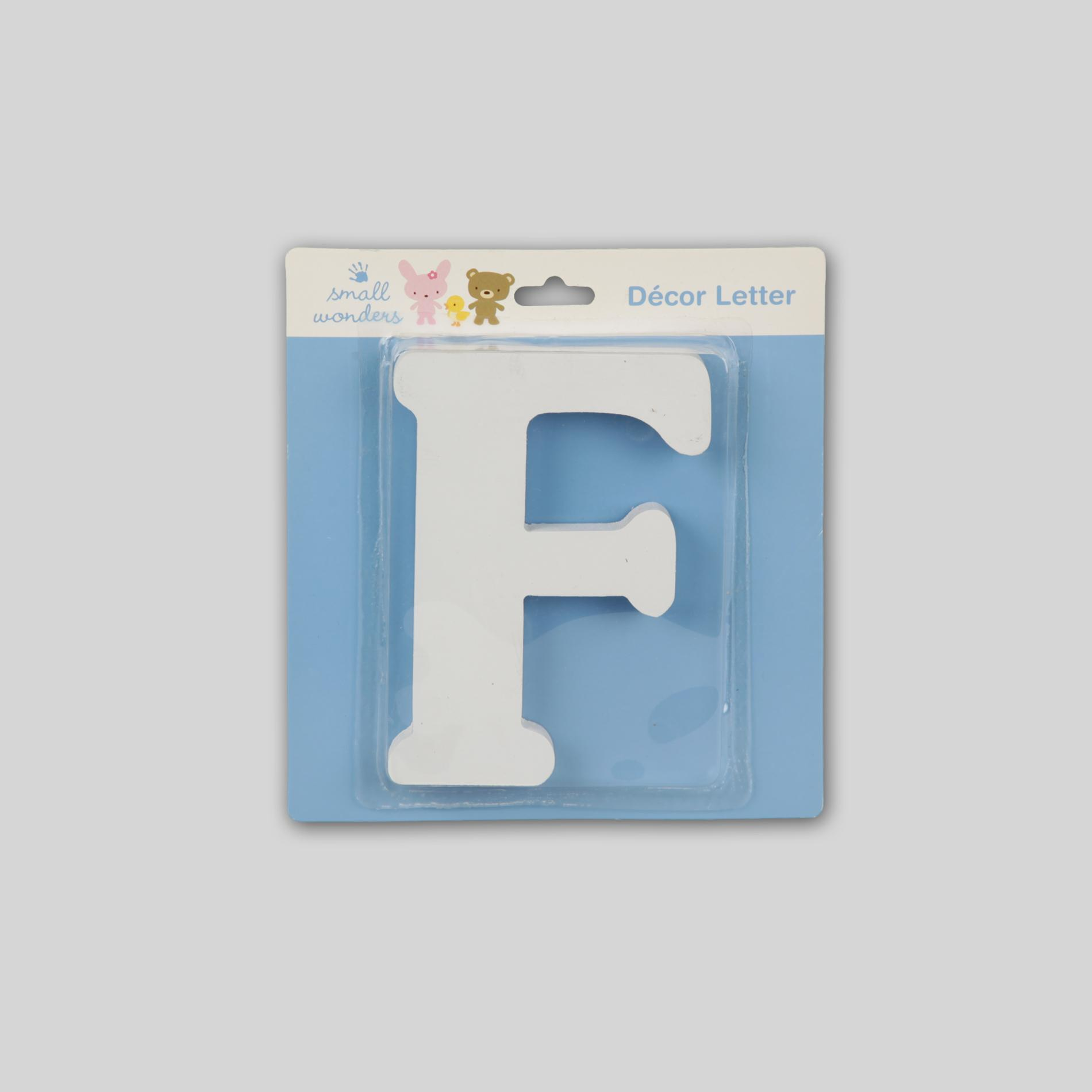 Small Wonders Wooden Letter Wall Decor - Letter F