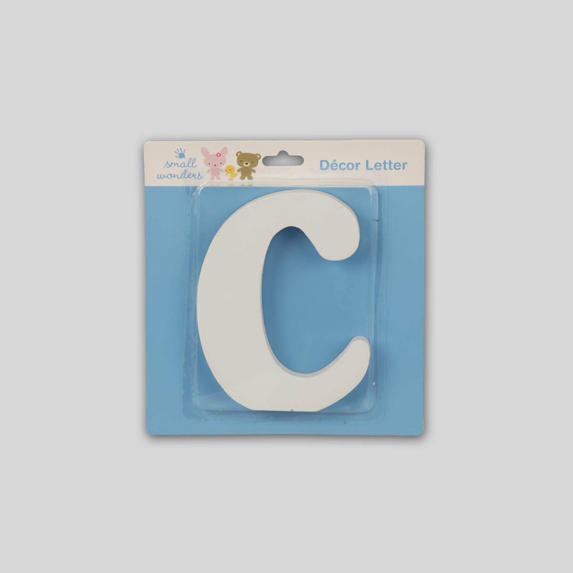 Small Wonders Wooden Letter Wall Decor - Letter C